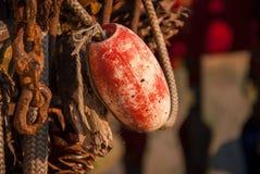 Aparejos de pesca descuidados Foto de archivo libre de regalías