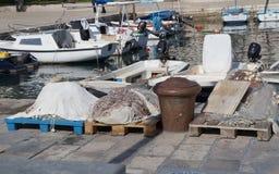 Aparejos de pesca en fractura Imagenes de archivo