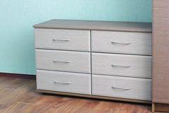 Aparelhador moderno Design de interiores armário para coisas fotografia de stock royalty free