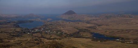 Aparelho de interferência na parte superior da montanha Vista superior alta Fotografia de Stock Royalty Free