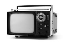 Aparelho de televisão antiquado Imagem de Stock Royalty Free