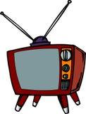 Aparelho de televisão do estilo velho Imagens de Stock