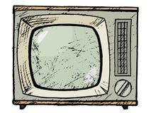 Aparelho de televisão do vintage Foto de Stock Royalty Free