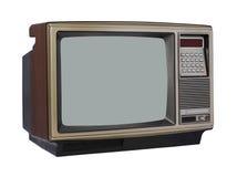 Aparelho de televisão do vintage Fotografia de Stock Royalty Free