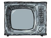 Aparelho de televisão do vintage Imagem de Stock