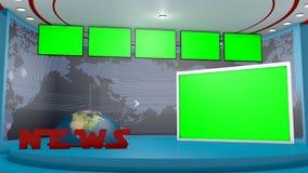 Aparelho de televisão em 3d Fotografia de Stock Royalty Free