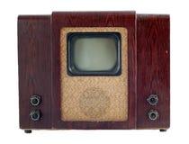 Aparelho de televisão soviético velho Fotos de Stock Royalty Free