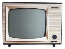Aparelho de televisão velho do russo imagem de stock