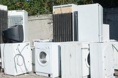 Aparelho eletrodoméstico de Junked foto de stock