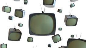 Aparelhos de televisão do estilo velho ilustração royalty free