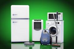 Aparelhos eletrodomésticos ajustados rendição 3d Imagens de Stock