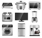 Aparelhos eletrodomésticos, equipamentos da família Fotos de Stock Royalty Free