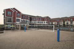 Aparment Complex Volleyball Court Royalty Free Stock Images