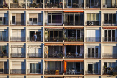 Aparments στην πρωτεύουσα της Βαρκελώνης Στοκ φωτογραφία με δικαίωμα ελεύθερης χρήσης