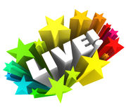 Aparência do desempenho de Live Word Stars Fireworks In-Person Fotografia de Stock Royalty Free