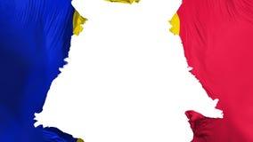 Apart gescheurde de vlag van Andorra vector illustratie