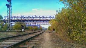 Apartadero ferroviario imagenes de archivo