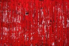 Apartadero rojo de la pared del granero Foto de archivo