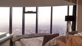 Apartament di lusso con cityview stupefacente Immagine Stock