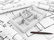 Apartament plan stock illustration