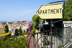 Apartament sign royalty free stock photography