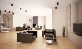 Apartamento 3d interior Imagen de archivo