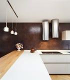 Apartamento bonito fornecido, cozinha Foto de Stock Royalty Free