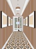 Apartamento clásico moderno del vintage de Hall Hallway Corridor In Old Ejemplo del vestíbulo Fotografía de archivo libre de regalías