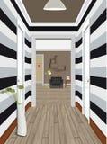 Apartamento clásico moderno del vintage de Hall Hallway Corridor In Old Ejemplo del vestíbulo Interior de un pasillo interno Fotografía de archivo