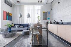 Apartamento com sala de visitas Imagem de Stock Royalty Free