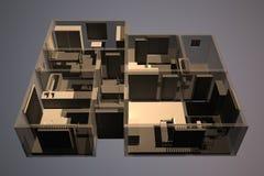 Apartamento de la radiografía stock de ilustración