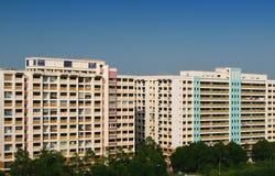 Apartamento de la vivienda de protección oficial de Singapur fotos de archivo libres de regalías