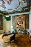 Apartamento de Napoleon III no museu do Louvre Imagens de Stock