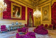 Apartamento de Napoleon III no museu do Louvre fotografia de stock royalty free