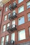 Apartamento do tijolo vermelho Fotografia de Stock Royalty Free