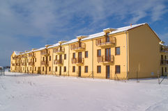 Apartamento en el invierno Imagenes de archivo