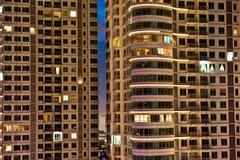 Apartamento en la noche Fotos de archivo libres de regalías