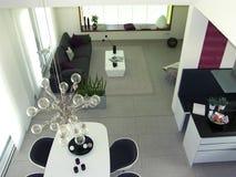 Apartamento moderno Foto de Stock Royalty Free