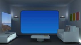 Apartamento moderno do espaço filme