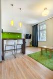 Apartamento novo com espaço aberto Fotos de Stock Royalty Free