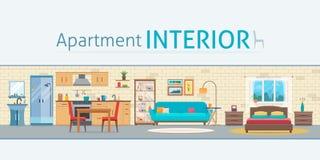 Apartamento para dentro ilustração do vetor