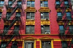 Apartamento vermelho e amarelo do tijolo Imagem de Stock Royalty Free