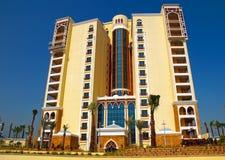 Apartamentos 3 de la línea de la playa de la isla de Jumeirah de la palma imagenes de archivo