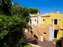 Apartamentos coloridos en Majorca Imagen de archivo libre de regalías
