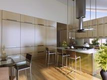 Apartamentos com garden2 Imagens de Stock Royalty Free