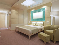 Apartamentos contemporâneos do hotel Foto de Stock Royalty Free