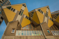 Apartamentos da caixa de Rotterdam Foto de Stock