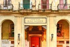 Apartamentos de Edificio Balaguer - Havana, Cuba Imagens de Stock Royalty Free