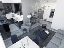 Apartamentos de estúdio do art deco Imagem de Stock