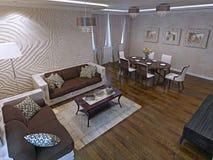 Apartamentos de estúdio luxuosos no projeto moderno Imagens de Stock